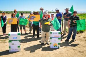 Lupe Martinez speaks to the press on Saturday, June 14th, 2014 in Kern County about the impacts of fracking.
