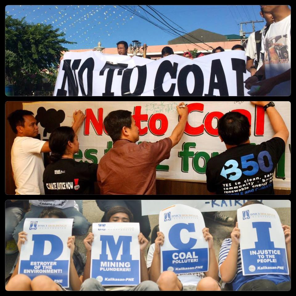 A snapshot from some of the actions against coal that happened in the Philippines.