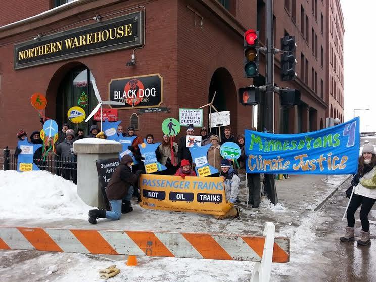 MN obama oil train protest